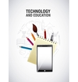 technology and education design vector image