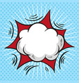 comic speech bubble cartoon cloud vector image