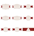 Greeting paper Banners with Ribbons Set vector image