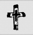 hand drawn cross grunge cross cross made with vector image