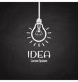 Light bulb idea logo on blackboard vector image