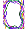 Mardi Gras Beads Background vector image