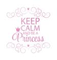 Princess Crown Background vector image