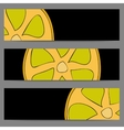 Set of banners with doodle lemon vector image