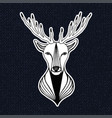 vintage with deer head hipster print sticker or vector image