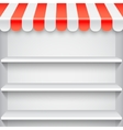 White Showcase with Red Awning vector image