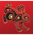 Chinese horoscope Year of the rabbit vector image vector image