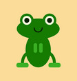 flat icon on background cute frog cartoon vector image