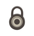 Padlock icon lock isolated symbol sign security vector image