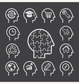 Head line icons set vector image vector image