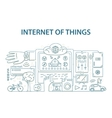 Doodle style design concept of internet of things vector image