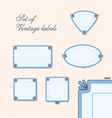 Set of vitage labels vector image vector image