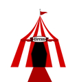 Circus tent white and red vector image