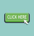 click here button icon vector image