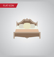 isolated mattress flat icon bedroom vector image