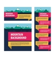 Mountains template advertising layout vector image