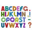multicolor scribble alphabet vector image