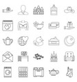nuptial icons set outline style vector image