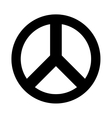 peace symbol isolated icon vector image