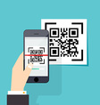 Scan QR code to Mobile Phone Electronic scan vector image