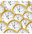 Seamless pattern with watches Stylish texture vector image