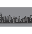 Silhouette of apartment with gray color vector image