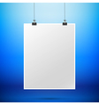 Abstract background blank paper sign hanging with vector image