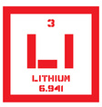 Lithium chemical element vector image