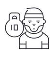 Athletebodybuildersportsman line icon vector image