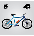 sport bicycle and equipment eps10 vector image
