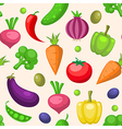 Decorative seamless pattern with vegetables vector image vector image