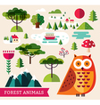 Forest collection - Owl vector image vector image