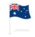 Australian flag on white background Developing vector image