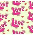 cartoon letters inscription love vector image