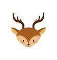 cute deer head wild animal vector image