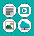 digital marketing concept video multimedia social vector image
