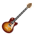 electric guitar music instrument realistic icon vector image