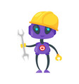 engineer or worker robot vector image