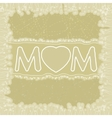 Happy Mothers Day greeting card EPS 8 vector image