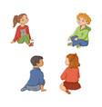 kids children boys and girls sitting on floor vector image