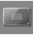 Transparent glass plate for your signs on vector image