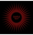 Sunburst Red rays vector image