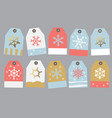 collection tag on the gift vector image