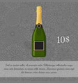 champagne beverage card template vector image