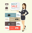 Sale promotion label paper template modern style vector image vector image