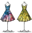 Dummies with dresses vector image vector image