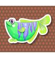 Green fish vector image