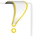 exclamation mark vector image vector image