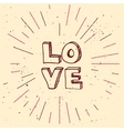 handdrawn background for Saint Valentines vector image
