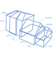 Buildings blueprint vector image